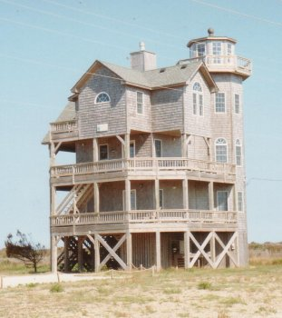 17J. Rodanthe on the Outer Banks - All wood, on stilts and 4 stories high. It must have survived a few hurricanes.